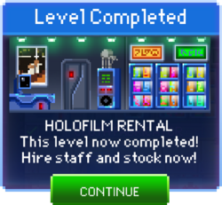 Message Holofilm Rental Complete