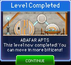 Message Abafar Apts Complete