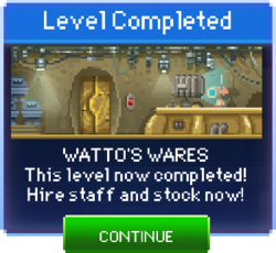 Message Watto's Wares Complete