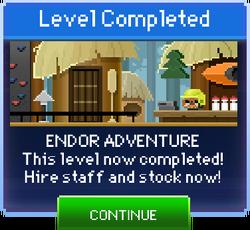 Message Endor Adventure Complete