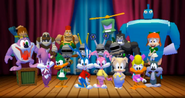 The cast of Tiny Toon Adventures - Defenders of the Universe