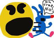 Calamity Coyote Pac-Man Pixels parody