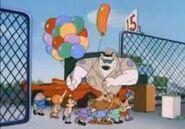 BleacherBummer-ArnoldGivesChildrenBalloons