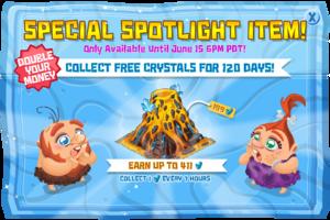 Modal special spotlight crystal volcano
