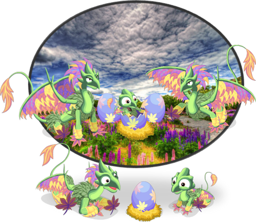 FlowerLeafDragon diorama1