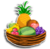 Goal fruit baket icon