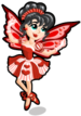 Queen of hearts fairy single