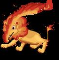 Fire lion an