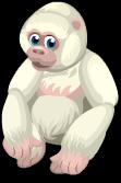 Albino gorilla static