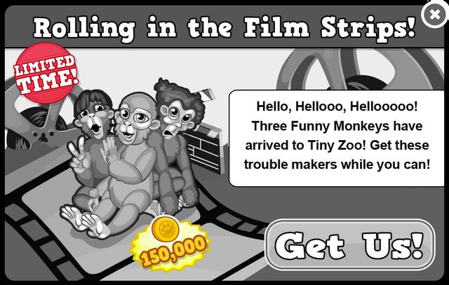 Three funny monkeys modal