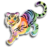 Goal rainbow glow tiger icon