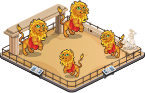 Herculean lion family