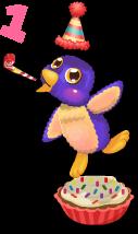 Cupcake penguin an