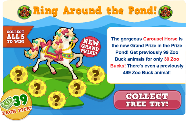 Prize pond carousel horse free try modal