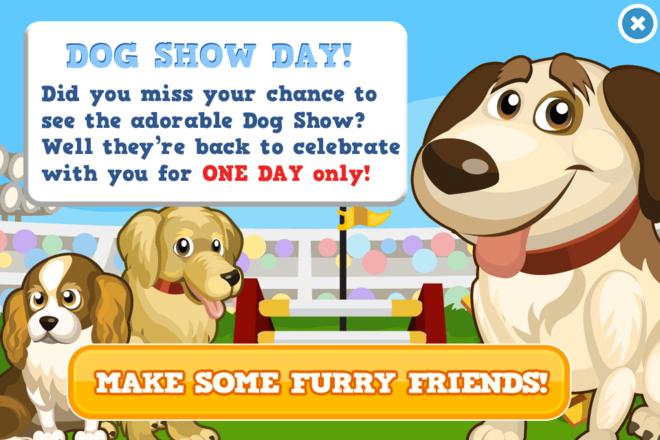 Dog show day modal
