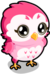 Owl cubby pink single