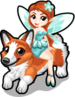 Fairy on a corgi single