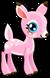 Cubby deer pink single