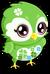 Owl cubby green single