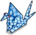 Origami crane single