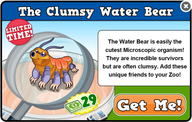 Water bear modal
