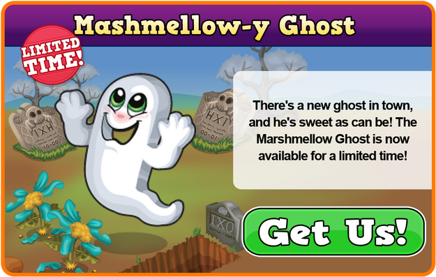 Marshmallow ghost modal