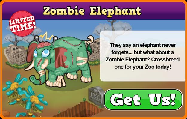 Zombie elephant modal