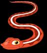 Red sided garter snake static