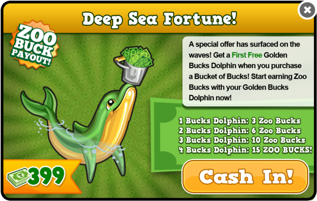 Golden bucks dolphin modal