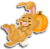 Goal lazy hare icon