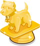 Westhighland white terrier trophy