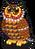 Jelly bean owl single
