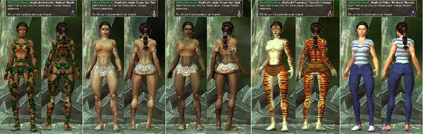 -Skirt-Skirtless- Alsafysh Arkeyla Traviskos Zilla NaturalWrath-IndiaDreamSariDark-Pale-TigerGirlOrange-WeekendWarrior