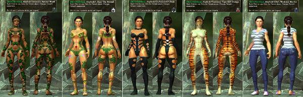 -Skirt-Skirtless- Alsafysh Arkeyla IRaps Traviskos Zilla Nymph-Rojo-Tiger