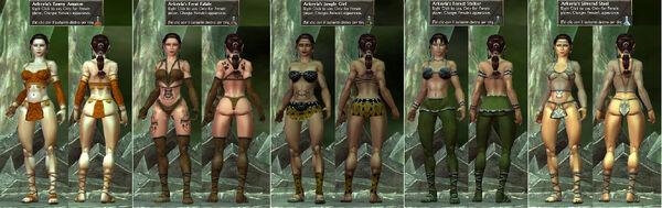 Arkeyla Amazon-FeralFatale-JungleGirl-ForestStalker-SilveredSteel