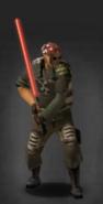 TLSDZ Red laser sword equipped