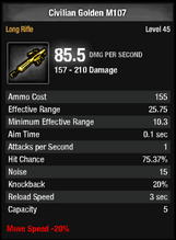 Civilian Golden M107