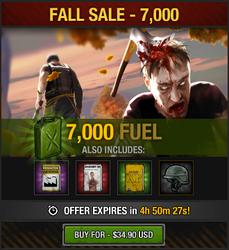 Tlsdz fall sale 7000 fuel