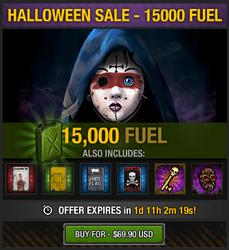 Tlsdz halloween 2014 sale - 15000 fuel