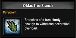 Z-Mas Tree Branch 2015