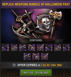 Replica Weapons Bundle of Halloween Past