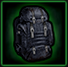 Police backpack icon