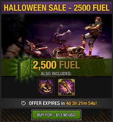 Tlsdz halloween sale - 2500 fuel
