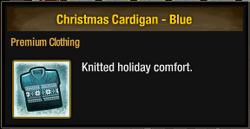 Christmas Cardigan - Blue