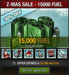 Z-Mas Sale 2016 - 15K fuel