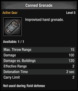 Canned Grenade