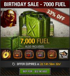 5th Birthday Sale - 7000 fuel