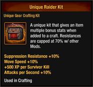 Unique Raider Kit