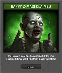 Z-mas gift claimed