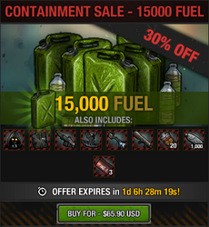 Containment Sale - 15000 fuel